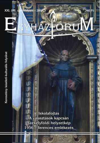 Egyházfórum 2006/5 (XXI. évfolyam)