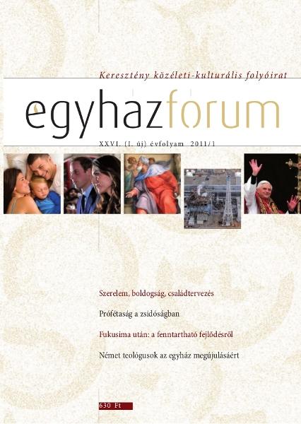 Egyházfórum 2011/1 (XXVI. évfolyam)