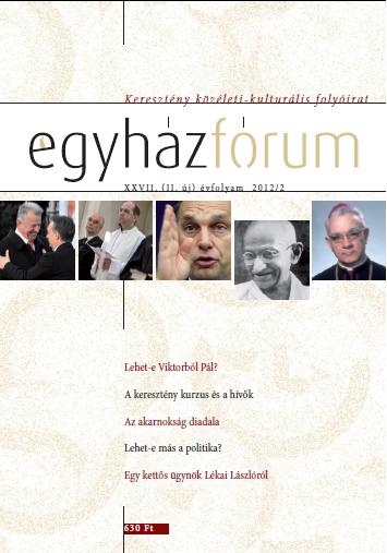 Egyházfórum 2012/2 (XXVII. évfolyam)