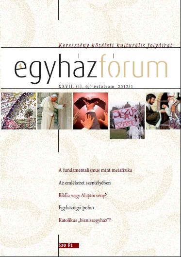 Egyházfórum 2012/1 (XXVII. évfolyam)