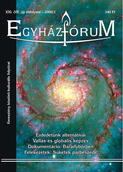 Egyházfórum 2006/1 (XXI. évfolyam)