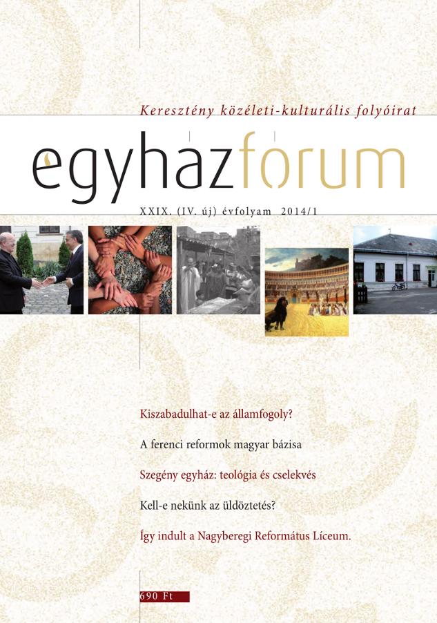 Egyházfórum 2014/1 (XXIX. évfolyam)