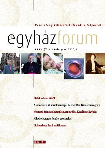 Egyházfórum 2020/4 (XXXV. évfolyam)